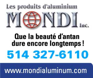 Les produits d'aluminium Mondi